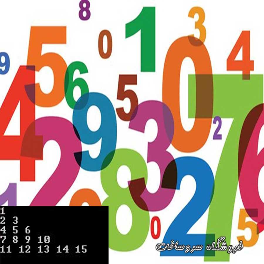 دانلود سورس رسم مثلث با اعداد ستاره در سی پلاس پلاس