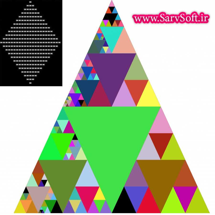دانلود کد رسم لوزی با ستاره در سی پلاس پلاس